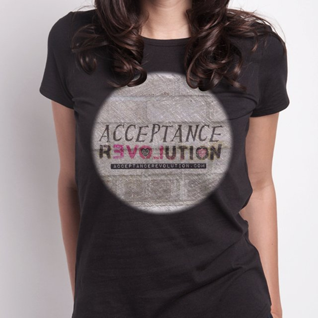 Acceptance Revolution Women's T - Black