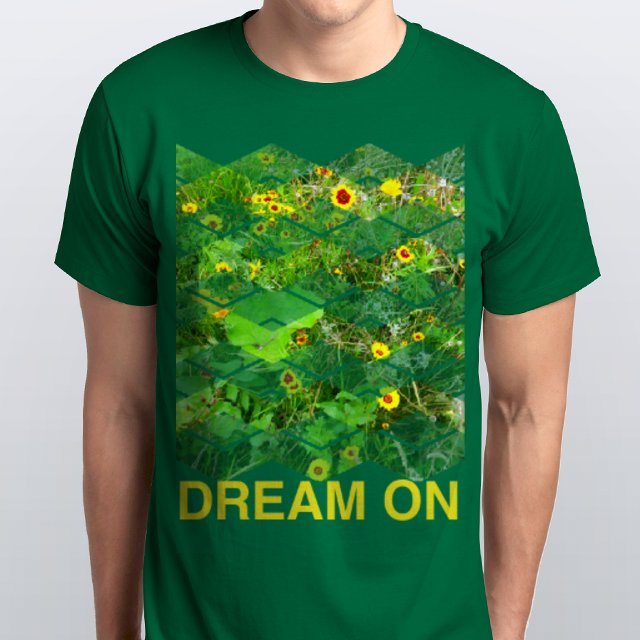 DREAM ON GREEN T-SHIRT